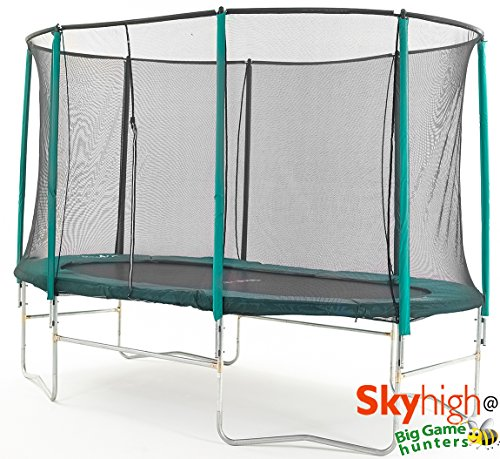 10ft-x-15ft-Skyhigh-Oval-Trampoline-with-Safety-Enclosure-Better-Bounce-and-wont-pull-the-user-into-centre-0
