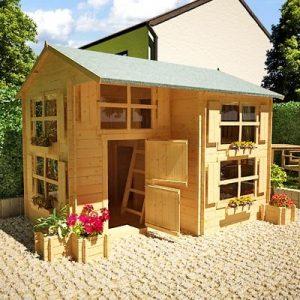 10x8-Mad-Dash-Annex-Log-Cabin-19mm-Wooden-Playhouse-0