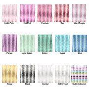 176-x-Multi-Coloured-Self-Adhesive-Diamante-Stick-On-Rhinestone-Gems-4mm-0-0