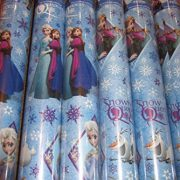 2-x-5-METRE-ROLLS-10-METRES-DISNEY-FROZEN-WRAPPING-PAPER-ANNA-OLAF-ELSA-PARTY-GIFT-WRAP-FREE-DELIVERY-0-1