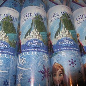 2-x-5-METRE-ROLLS-10-METRES-DISNEY-FROZEN-WRAPPING-PAPER-ANNA-OLAF-ELSA-PARTY-GIFT-WRAP-FREE-DELIVERY-0