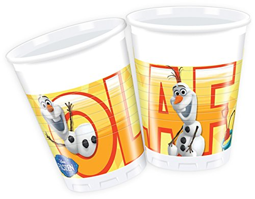 200ml-Disney-Frozen-Plastic-CupsPack-of-8-featuring-Summer-Olaf-0