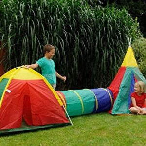 3-in-1-Childrens-Adventure-Play-Dome-Tent-Tunnel-Wigwam-Outdoor-Garden-Game-Toy-0