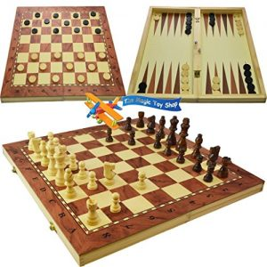 3-in-1-Wooden-Compendium-Board-Game-Set-Family-Games-Chess-Backgammon-Draughts-0