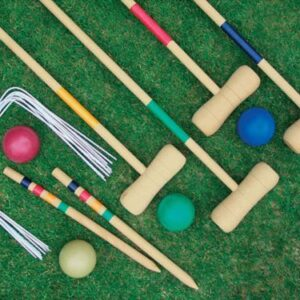 4-PLAYER-COMPLETE-WOODEN-OUTDOOR-GARDEN-CROQUET-SET-MALLET-BALLS-TOY-FUN-0