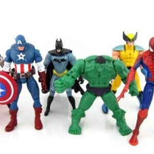 6-pcs-Avengers-super-hero-Action-Figures-Hulk-spiderman-thor-Batman-Wolverine-0