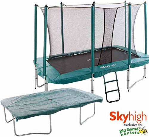 7ft-x-10ft-Skyhigh-Rectangular-Trampoline-with-Enclosure-Cover-Ladder-0