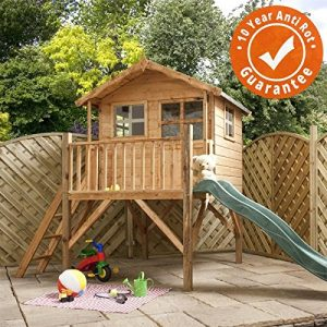 7x5-Wooden-Honeypot-Poppy-Tower-Playhouse-with-Slide-EN71-Safety-Tested-Shiplap-Cladding-By-Waltons-0