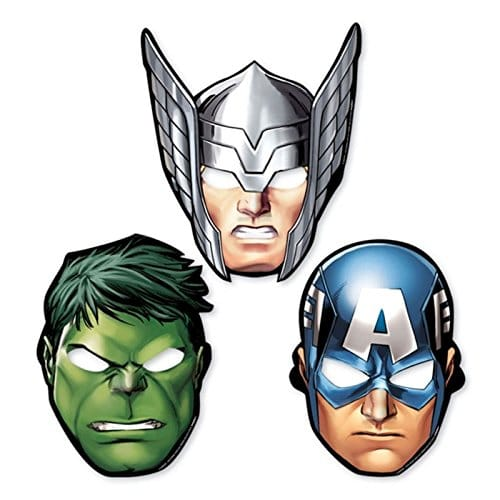 8x-Avengers-Paper-Party-Masks-Thor-The-Hulk-Captain-America-Super-Hero-Superheroes-Card-Birthday-Favours-0
