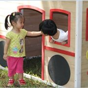 ActivKids-Bus-Drivers-Wooden-Playhouse-with-Long-Slide-and-Chalk-Blackboard-For-Creativity-0-2