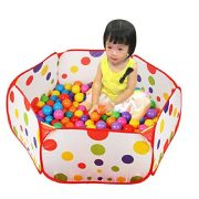 Amison-Cute-Pop-up-Hexagon-Polka-Dot-Children-Ball-Play-Pool-Tent-Carry-Tote-Toy-Without-Balls-0-0