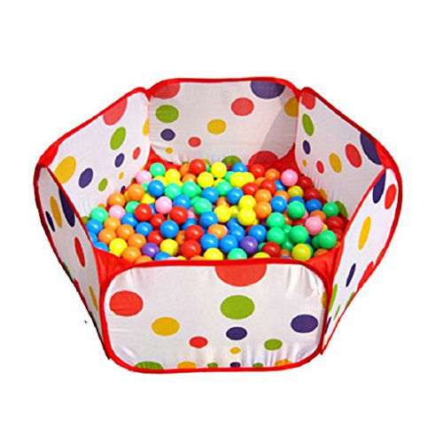 Amison-Cute-Pop-up-Hexagon-Polka-Dot-Children-Ball-Play-Pool-Tent-Carry-Tote-Toy-Without-Balls-0