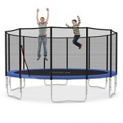 Ampel-24-16-ft-garden-trampoline-blue-or-green-with-safety-net-jumping-mat-120-springs-TV-and-GS-certified-0-1