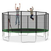 Ampel-24-16-ft-garden-trampoline-blue-or-green-with-safety-net-jumping-mat-120-springs-TV-and-GS-certified-0-2