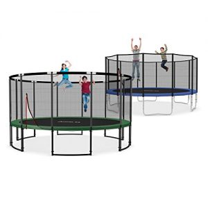 Ampel-24-16-ft-garden-trampoline-blue-or-green-with-safety-net-jumping-mat-120-springs-TV-and-GS-certified-0