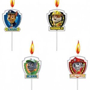 Amscan-999142-3-cm-Paw-Patrol-Mini-Figurine-Candles-0