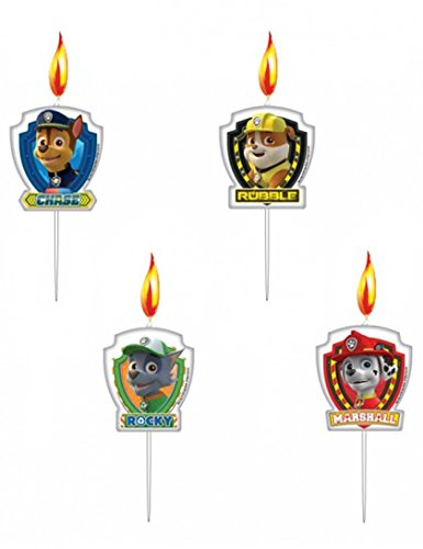 Amscan-999142-3-cm-Paw-Patrol-Mini-Figurine-Candles-0