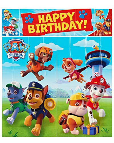 Amscan-International-Paw-Patrol-Scene-Setters-Wall-Decorating-Kit-0