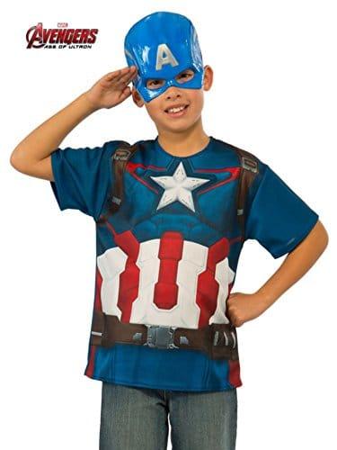 Avengers-2-Captain-America-TShirt-Boys-Fancy-Dress-Superhero-Kids-Childs-Costume-0