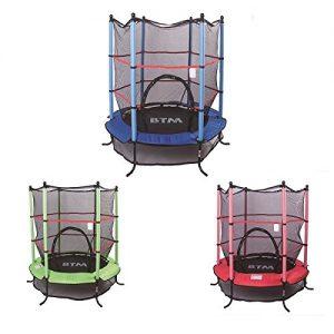 BTM-45FT-BluePinkGreen-Trampoline-Junior-Kids-Outdoor-Activity-Fun-With-Safety-Net-0