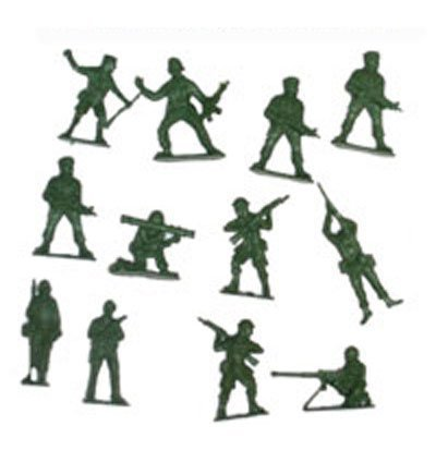 Bag-of-50-Traditional-Green-Plastic-Toy-Soldiers-for-Army-Military-War-Games-0