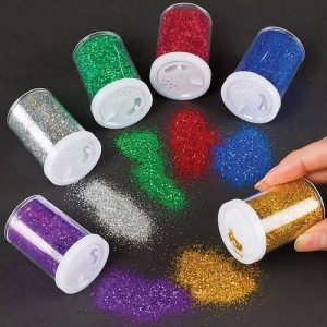 Baker-Ross-Glitter-Shaker-Tubes-for-Crafting-Scrapbooking-Card-and-Decoration-Making-Arts-Crafts-Supplies-Set-of-6-Assorted-Colours-0