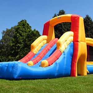 BeBop-Bounce-and-Double-Slide-Inflatable-Bouncy-Castle-with-Electric-Fan-FREE-Safety-Mat-0