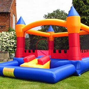 BeBop-Turret-Ball-Pit-Inflatable-Bouncy-Castle-and-Blower-Fan-FREE-Play-Balls-0