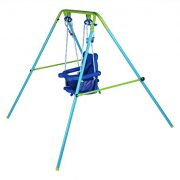 Blue-Folding-Swing-Outdoor-Indoor-Swing-Toddler-Garden-Baby-Swing-Nursery-Swing-with-safety-seat-for-babychirldrens-Gift-0-0