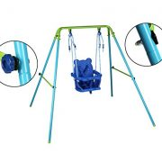 Blue-Folding-Swing-Outdoor-Indoor-Swing-Toddler-Garden-Baby-Swing-Nursery-Swing-with-safety-seat-for-babychirldrens-Gift-0-2