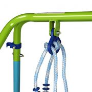 Blue-Folding-Swing-Outdoor-Indoor-Swing-Toddler-Garden-Baby-Swing-Nursery-Swing-with-safety-seat-for-babychirldrens-Gift-0-4