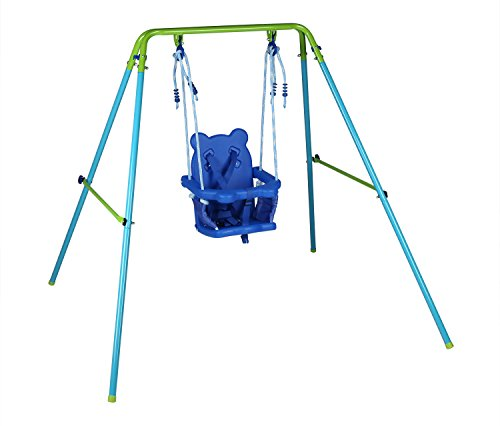 Blue-Folding-Swing-Outdoor-Indoor-Swing-Toddler-Garden-Baby-Swing-Nursery-Swing-with-safety-seat-for-babychirldrens-Gift-0