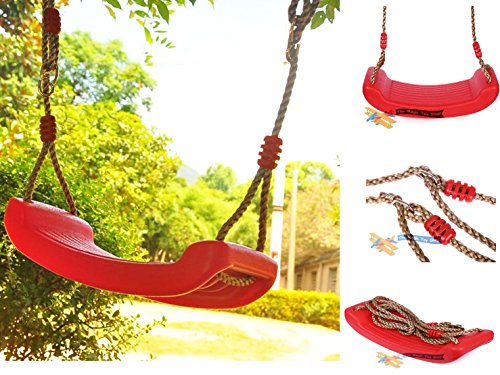 Child-Garden-Outdoor-Plastic-Swings-Seat-Garden-Tree-Swing-With-Hanging-Rope-0