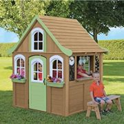 Children-Wooden-Playhouse-a-Unique-Play-House-in-a-cute-country-style-on-Sale-Our-garden-farm-outdoor-log-cabin-from-Cedar-Childrens-Welcome-Home-Playhouses-comes-with-wood-cover-roof-front-dormer-and-0-1