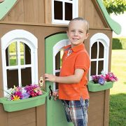 Children-Wooden-Playhouse-a-Unique-Play-House-in-a-cute-country-style-on-Sale-Our-garden-farm-outdoor-log-cabin-from-Cedar-Childrens-Welcome-Home-Playhouses-comes-with-wood-cover-roof-front-dormer-and-0-4