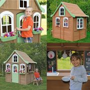 Children-Wooden-Playhouse-a-Unique-Play-House-in-a-cute-country-style-on-Sale-Our-garden-farm-outdoor-log-cabin-from-Cedar-Childrens-Welcome-Home-Playhouses-comes-with-wood-cover-roof-front-dormer-and-0-5
