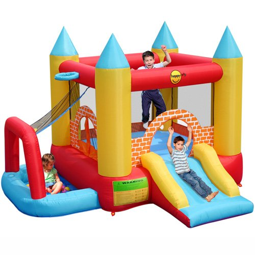 Childrens 4 In 1 Play Centre Bouncy Castle Ball Pool