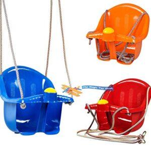 Childrens-Childs-Toddler-Adjustable-Outdoor-Garden-Rope-Safety-Safe-Swing-Seat-0