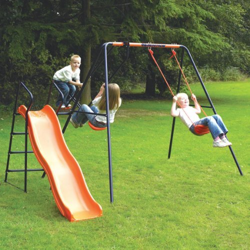 Childrens-Garden-Swing-With-Slide-Headstrom-Saturn-Swing-Set-0
