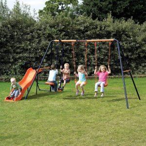 Childrens-Garden-Swing-and-Slide-Set-Headstrom-Europa-Outdoor-Swing-0