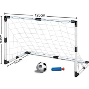 Childrens-Kids-Football-Goal-Set-1-Goals-with-Nets-and-Ball-SIZE-12m-wide-x-08m-tall-0