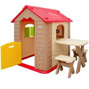 Childrens-Playhouse-1-table-2-benches-for-boys-and-girls-House-made-of-Plastic-for-indoors-and-outdoors-0-0
