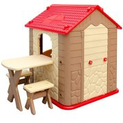 Childrens-Playhouse-1-table-2-benches-for-boys-and-girls-House-made-of-Plastic-for-indoors-and-outdoors-0-1