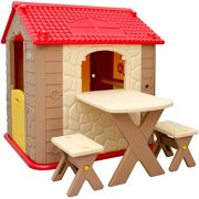 Childrens-Playhouse-1-table-2-benches-for-boys-and-girls-House-made-of-Plastic-for-indoors-and-outdoors-0-2