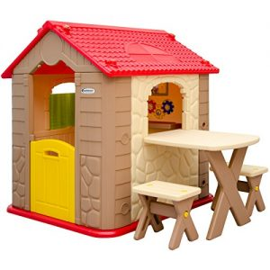 Childrens-Playhouse-1-table-2-benches-for-boys-and-girls-House-made-of-Plastic-for-indoors-and-outdoors-0