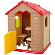 Childrens-Playhouse-1-table-2-benches-for-boys-and-girls-House-made-of-Plastic-for-indoors-and-outdoors-0-4