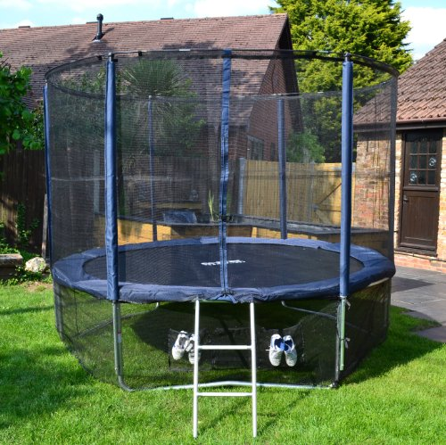 Cortez-Premier-10ft-Trampoline-with-Enclosure-and-Ladder-0