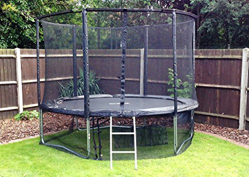 Cortez-Premier-12ft-Trampoline-with-Enclosure-and-Ladder-0