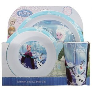 Disney-ChildrensGirls-Official-Frozen-3-Piece-Dinner-Set-0