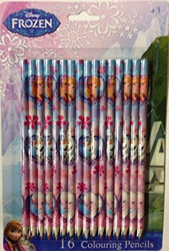 Disney-FROZEN-Elsa-Anna-Olaf-16-Colouring-Pencils-0